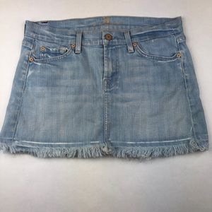 7 FOR ALL MANKIND Skirt Light Wash Denim size 10